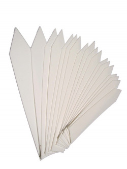 White tags 10 cm x 1,5cm (50 pcs)