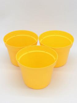 Vaso tondo Ø 14 cm giallo