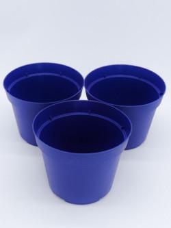 round pot blue