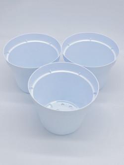 Round pot Ø 14 cm white