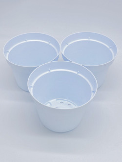 Vaso tondo Ø 14 cm bianco