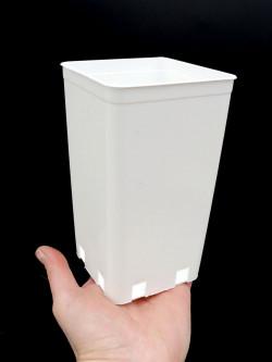 WHITE square pot 10 x 10 x 17 cm