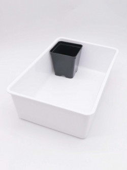 Vasca sottovaso bianca  40x30x10 h