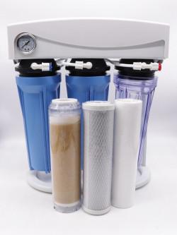 Impianto ad osmosi Aquili 4 stadi  75 galloni 250 litri