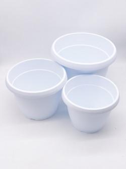 Vaso tondo bianco diametro 25 cm