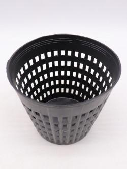 Vaso nero tondo traforato 10 cm x 9 h